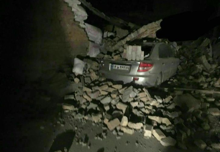 Seis muertos fue el saldo que dejó un terremoto de magnitud 7.2 entre Irán e Irak. (Twitter).