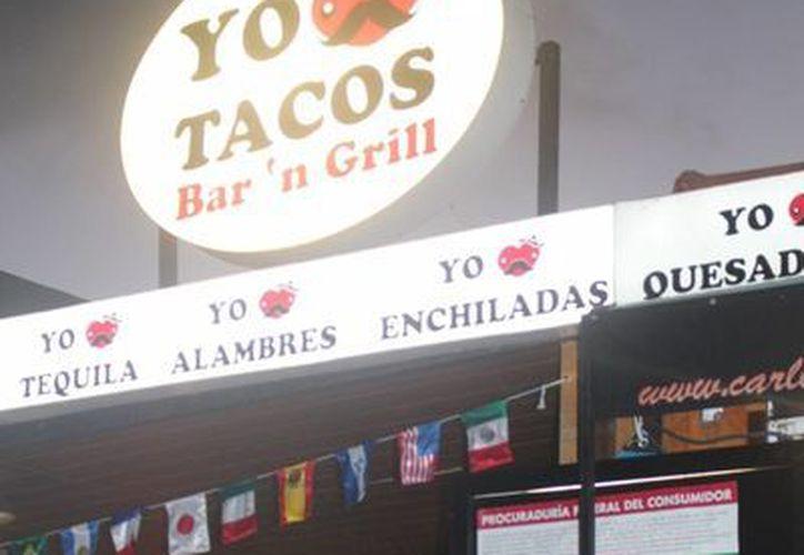 """""""I love tacos"""" fue uno de los cuatro negocios que recibieron una sanción de parte de la Profeco.  (Yesenia Barradas/SIPSE)"""