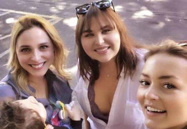 'Pilar', 'Celina' y 'Vico' volvieron a reunirse después de varios años.  (Foto: Instagram karcossio)