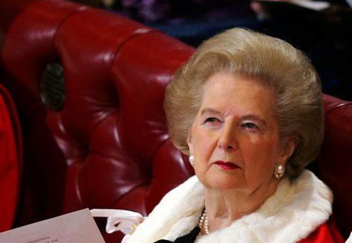Margaret Thatcher se ganó la admiración de los políticos de su tiempo. (Agencias)