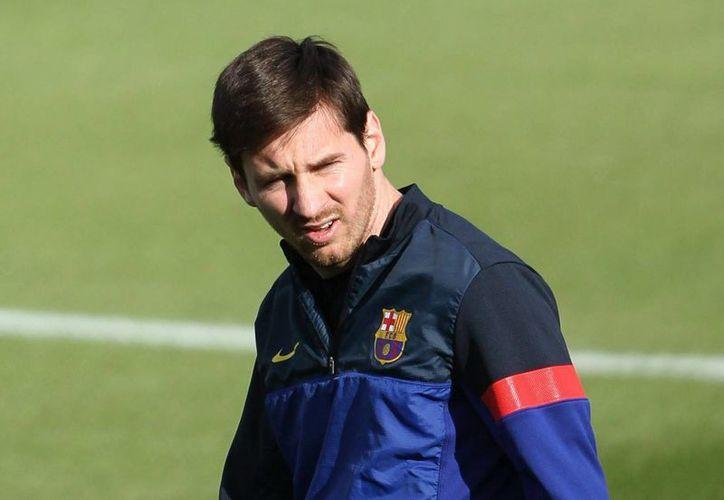 Messi viene de recuperarse de una lesión en el bíceps femoral de la pierna derecha. (EFE)