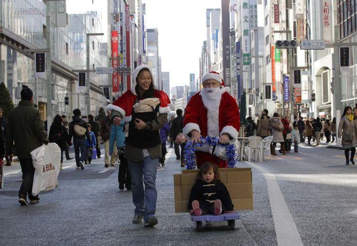 Santa Claus en Tokio, Japón. (Agencias)