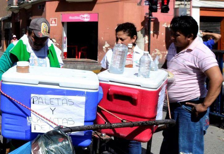 El domingo se registraron temperaturas muy calurosas en la capital de Yucatán. (Daniel Sandoval/Milenio Novedades)