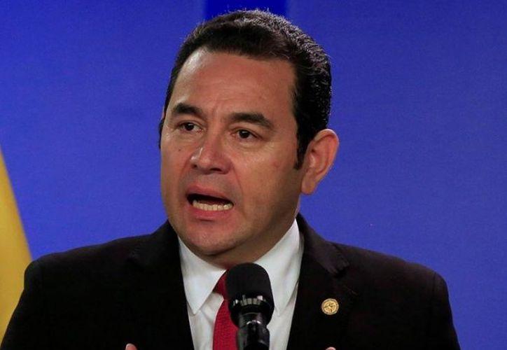 El anuncio lo dio el presidente de Guatemala, Jimmy Morales. (excelsior.com)