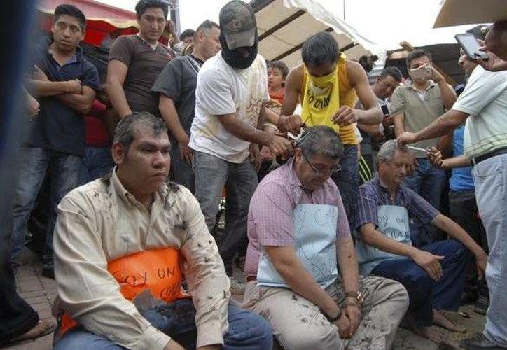 El titular de la SEP, Aurelio Nuño Mayer, reiteró su respaldo a los maestros de Chiapas que fueron humillados al ser rapados en público. (Milenio Novedades)