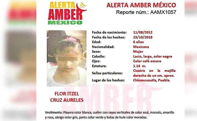 La niña fue secuestrada en Chiconcuautla el pasado 23 de octubre. (Internet)