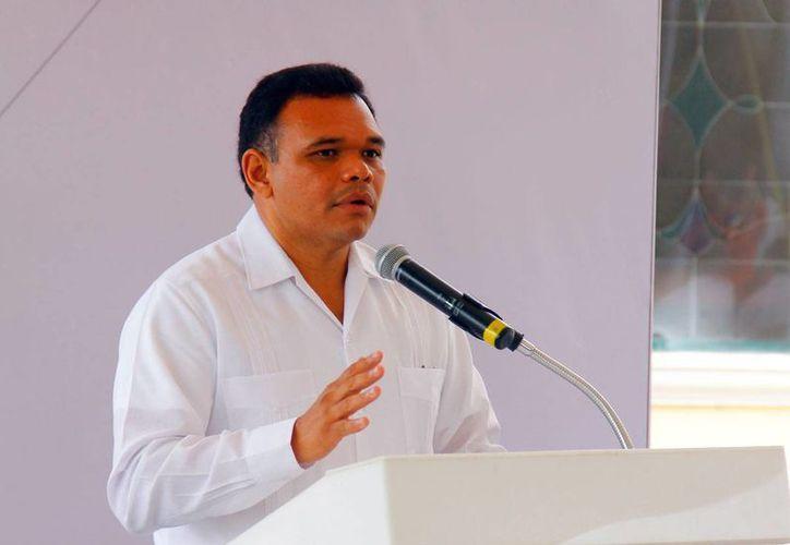 El gobernador de Yucatán, Rolando Zapata Bello. (Milenio Novedades)