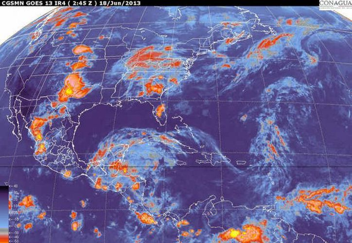 De fortalecerse a tormenta tropical recibirá el nombre de 'Narda'. (Notimex)
