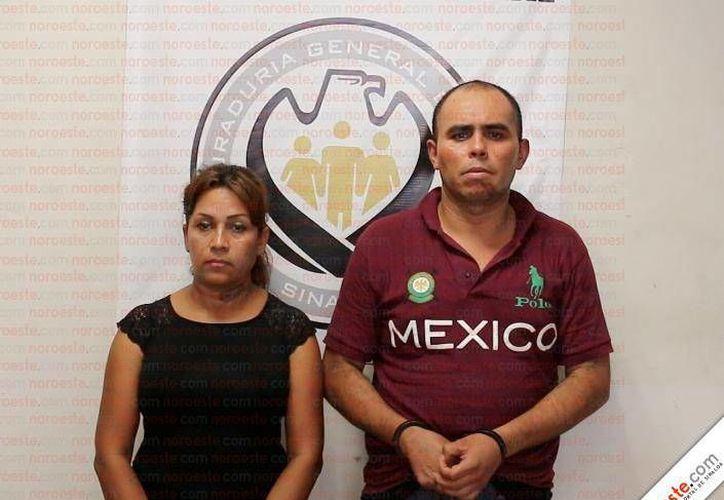 Alma Delia Chávez Guerrero y Yahir (Jair) Sandoval, acusado del homicidio de Aldo Sarabi, trompeta de El Recodo. (www.noroeste.com.mx)