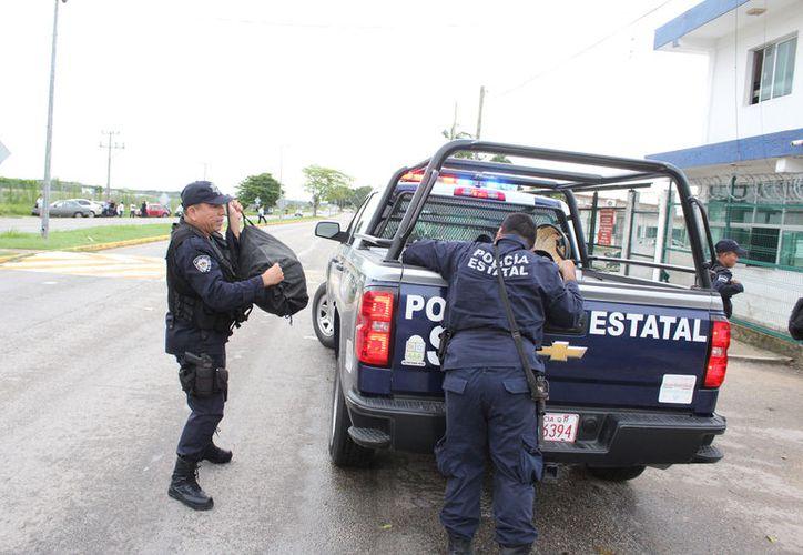 Recibirán indumentaria para la profesionalización de los elementos policíacos.(Foto: Joel Zamora)