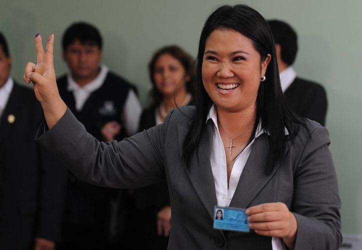 La candidata a la presidencia de Perú, Keiko Fujimori, se mantiene con 30 por ciento en la intención de voto a falta de menos de un año para las elecciones presidenciales de 2016 en Perú. (EFE/Archivo)