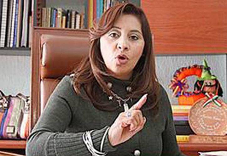 Mirna García López desvió más de 123 millones de pesos de las cuentas del SNTE en Hidalgo. (Excélsior)