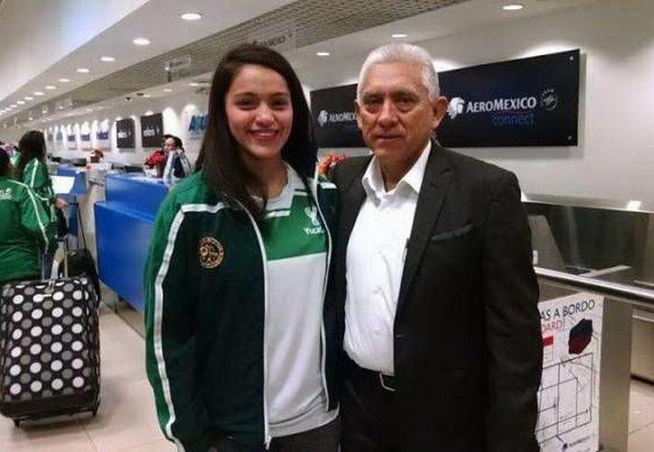 La esgrimista yucateca se encuentra con la selección nacional, para encarar el siguiente mundial de esgrima en Dourdan, Francia. (Sipse.com)
