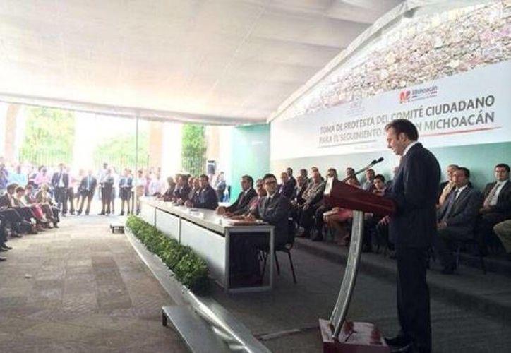 Luis Videgaray presentó los cinco ejes que regirán el Plan Michoacán cuyo objetivo es impulsar la economía y desarrollo de la entidad. (@gobmichoacan)