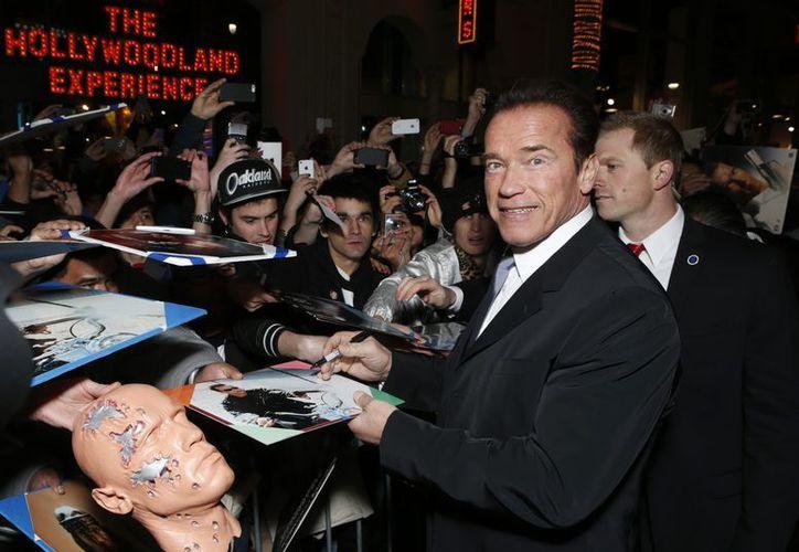 Schwarzenegger en la premiere de 'The Last Stand' en el Teatro Chino de Grauman, en Los Ángeles. (Agencias)