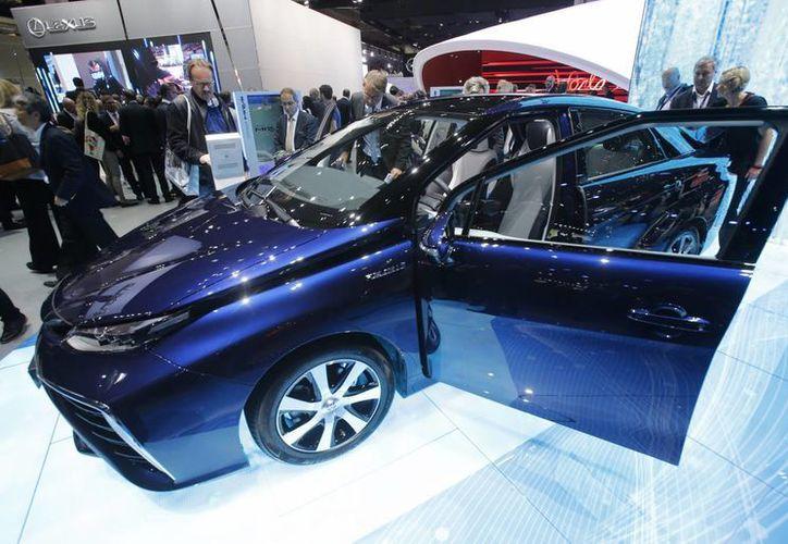 Vista del nuevo Toyota Mirai en el Salón del Automóvil de Francfort. (Agencias)