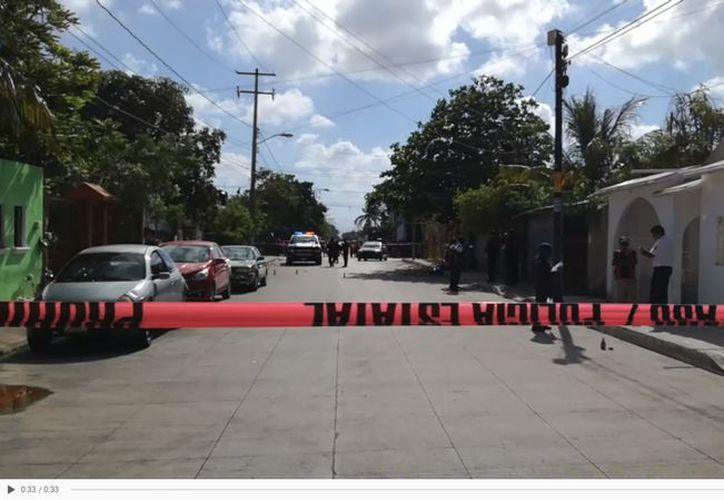 Los disparos fueron en manazana 34, en la calle 60, a unas cuadras de la avenida Leona Vicario. (SIPSE)