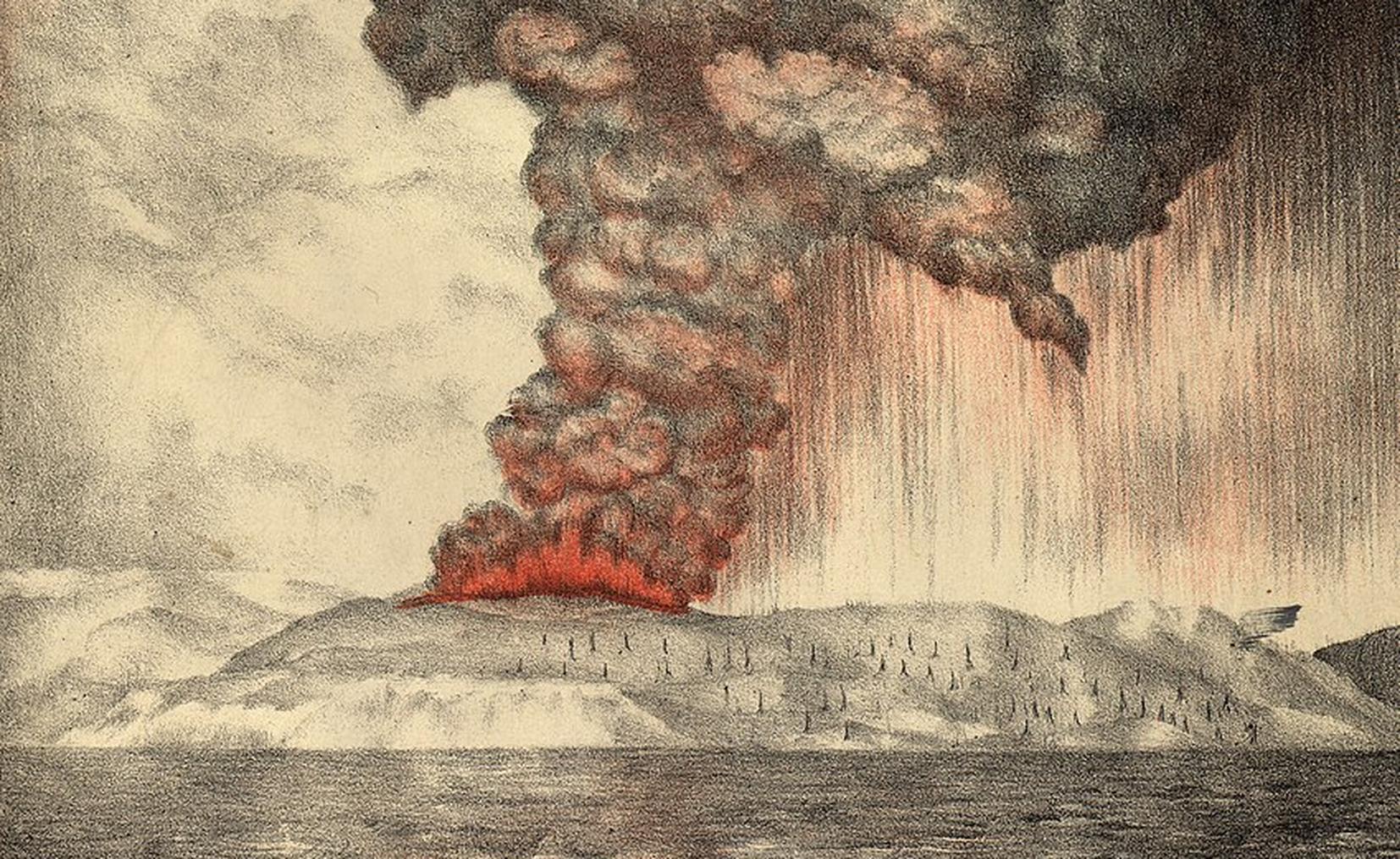 Krakatoa: erupción del volcán provocó un cambio climático