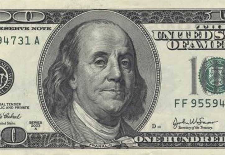"""Imagen del """"frente"""" de un billete de 100 dólares (migmartinezmrx.wordpress.com)"""