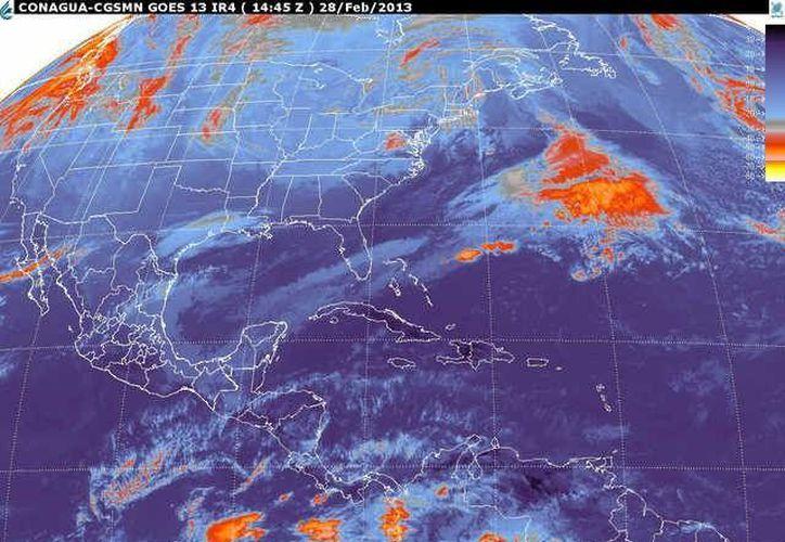 Además, soplarán vientos del norte y noreste de 30 a 50 km/h. (smn.cna.gob.mx)