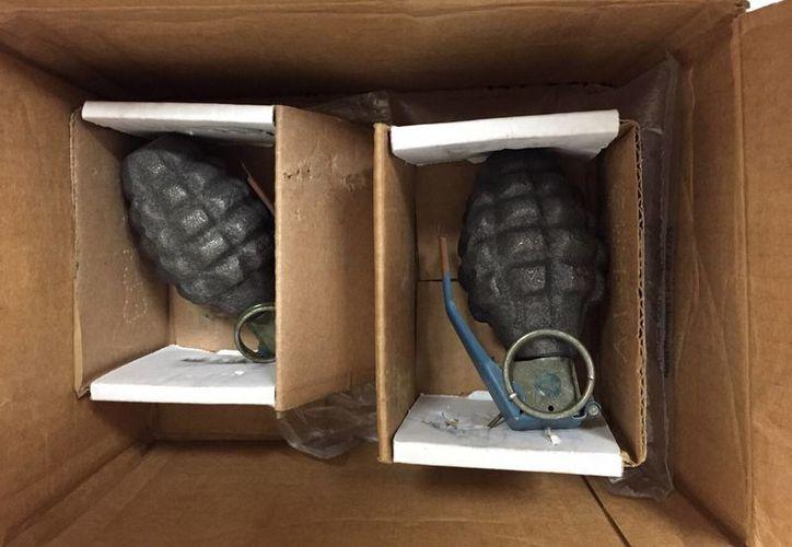 Las granadas estaban debidamente empaquetadas para evitar que explotaran. (SIPSE)