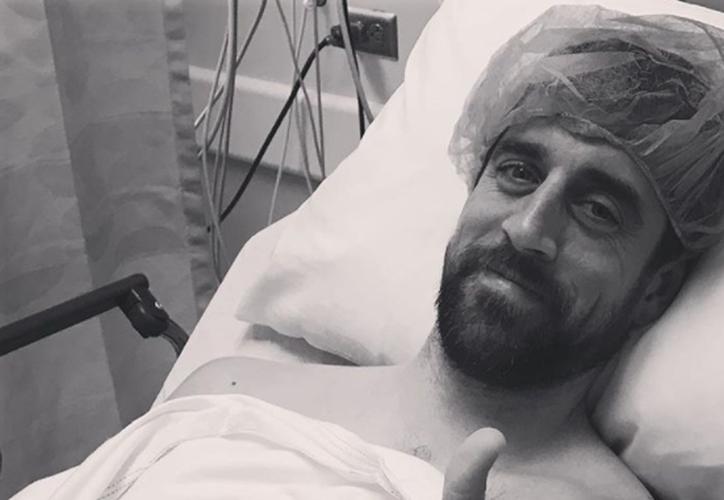 Aaron Rodgers sufrió una fractura de clavícula ante los Minnesota Vikings. (Instagram)