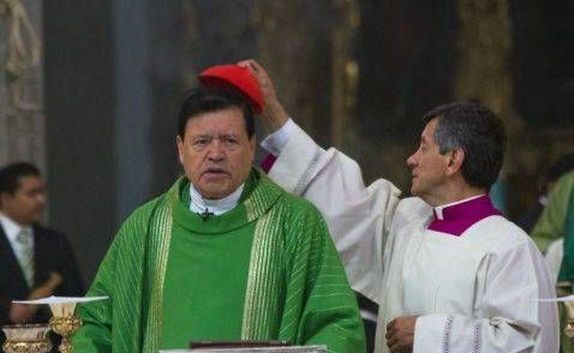 El cardenal oró por el presidente electo de Estados Unidos, Donald Trump. (Milenio)