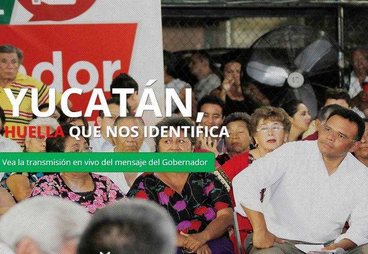 Imagen de portada que muestra, en internet, la página oficial o 'micrositio' del Segundo Informe de Gobierno de Rolando Zapata Bello.
