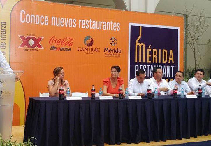 Este lunes, se presentó la segunda edición del Mérida Restaurant Week. Durante una semana, los mejores negocios de comida de la ciudad ofrecerán sus mejores platillos a un precio único de 109 pesos. (Facebook/Canirac)