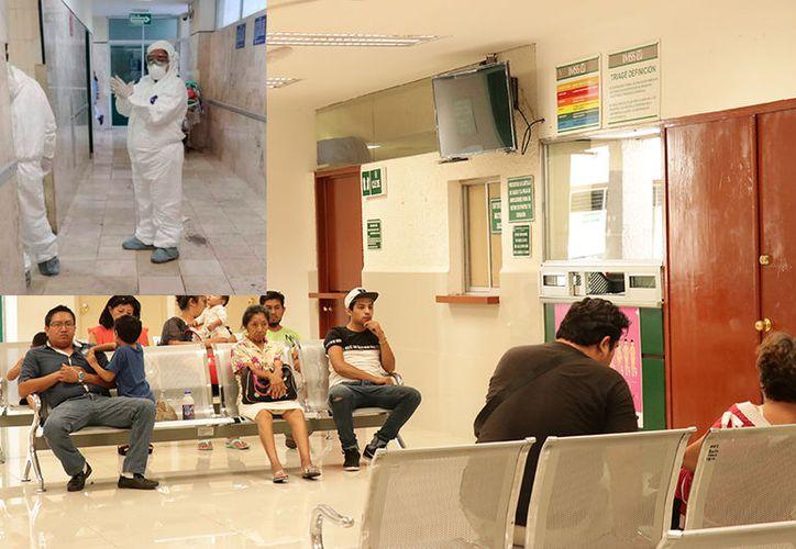 El personal que atiende casos de influenza cuenta con trajes especiales, además de que se han habilitado áreas para estos enfermos. (Especial/Milenio Novedades)