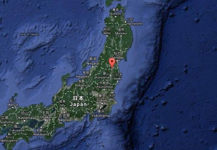La isla Honshu que se sacudió por el temblor de esta mañana pertenece a Fukushima, en Japón. (Google Maps)