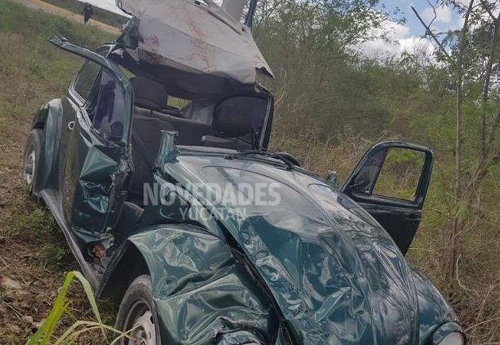Salieron lesionados la conductora, un bebé y un matrimonio.