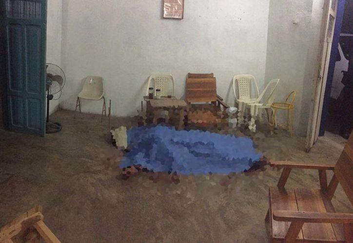 Dentro del predio de la calle  33 x 22 y 24 de Temax se produjo el ataque brutal. (SIPSE)