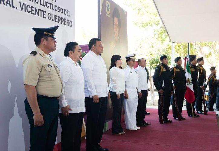 Autoridades destacaron en Yucatán el legado de Vicente Guerrero, héroe nacional y pieza clave de la Independencia de México. (Fotos cortesía del Gobierno)