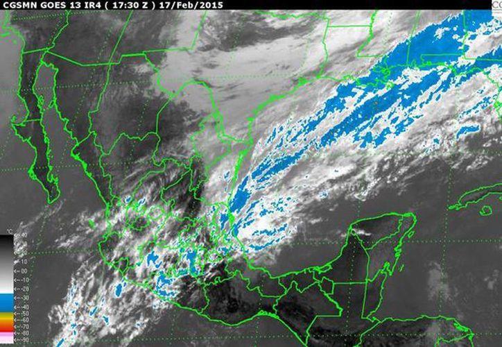 Para hoy, se esperan temperaturas calurosas a muy calurosas, con probables lluvias en el oriente de la Península de Yucatán.  (smn.conagua.gob.mx)