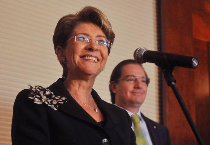 Mercedes Juan López, Secretaria de Salud, busca fortalecer los sistemas del IMSS e ISSSTE. (Notimex)