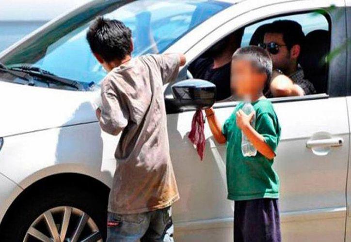 Los comerciantes organizados de Mérida aseguran que hay un incremento de niños de la calle que trabajan en el Centro de Mérida y Paseo de Montejo. La imagen es de contexto. (Milenio Novedades)
