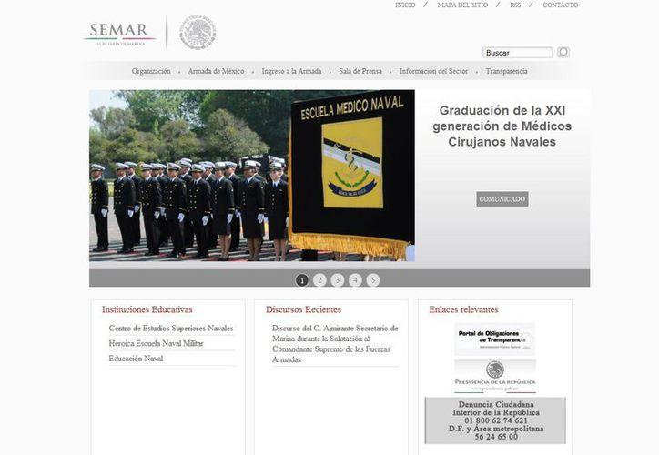 """La Semar señaló que su sitio en Internet enfrentó una """"denegación de servicio"""". (semar.gob.mx)"""