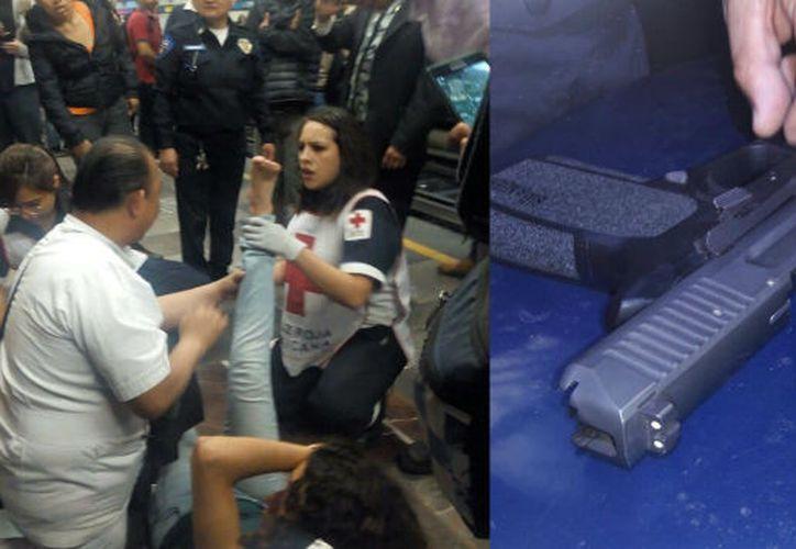 el activo de la Semar fue puesto a disposición del ministerio público. (Foto: Twitter: @mreldibalo).