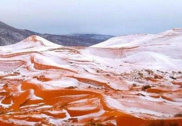 Hace casi cuatro décadas que no caía una tormenta de nieve en el desierto del Sahara. (Excélsior)