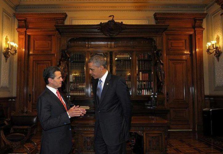 El presidente Obama fue recibido por Peña Nieto en el Palacio Nacional. (Facebook/Enrique Peña Nieto)