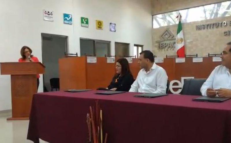El convenio se realizó este miércoles en las instalaciones del Iepac. (SIPSE)