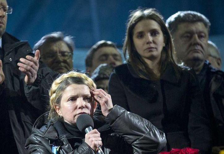 Yulia Timoshenko, ex primera ministra de Ucrania, será candidata presidencial. (Agencias).