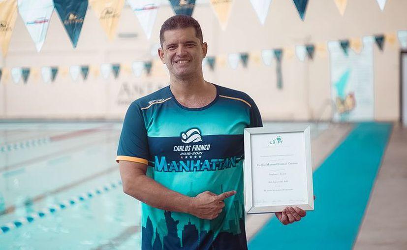 El nadador yucateco Carlos Franco Cantón. (Foto: Novedades Yucatán)