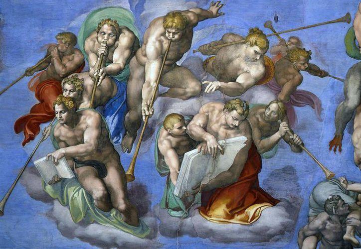 Los frescos de Miguel Ángel fueron testigos del encuentro del Papa Francisco con personas sin hogar. (Ansa)