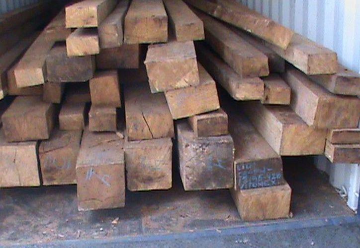 Imagen de la madera asegurada por la PGR y la Profepa. (Milenio Novedades)