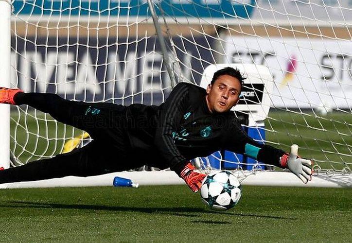 Keylor Navas fue la novedad en el entrenamiento del Real Madrid. (Real Madrid).