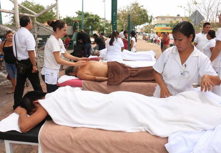 El ICAT advierte que hay masajes que no son aptos para todas las personas. (Adrián Barreto/SIPSE)