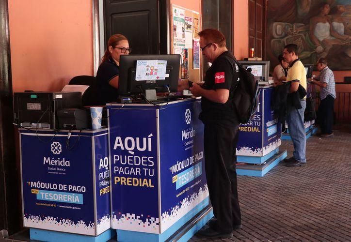 El Ayuntamiento de Mérida habilitó 56 cajas recaudadoras para el pago de predial. (Foto: Milenio Novedades)