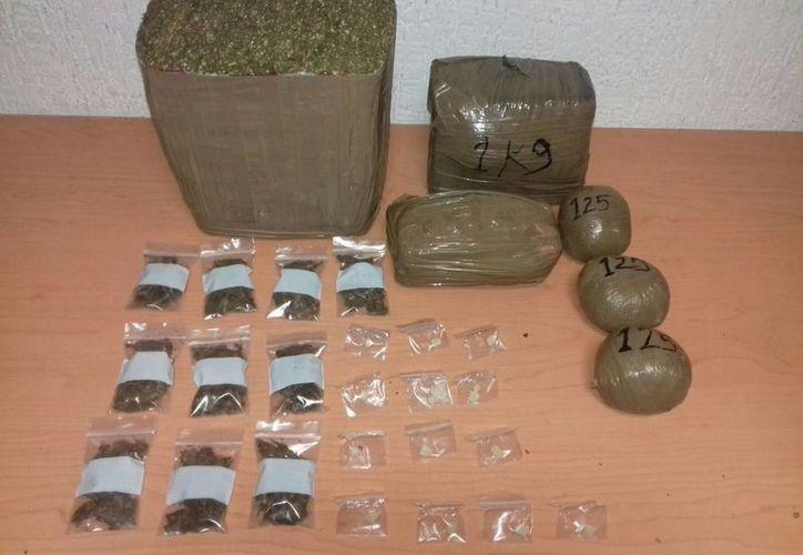 """""""Broca"""" llevaba consigo cuatro kilos de droga empaquetada para vender. (Redacción/SIPSE)"""
